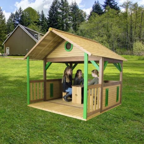 Jungle Lodge Wooden Playhouse